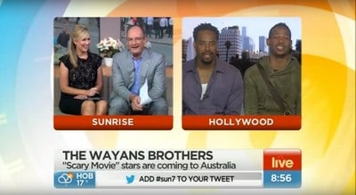 Sunrise - The Wayans brothers coming to Australia